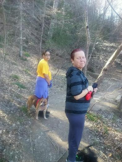 Went hiking with my mom, aunt and her dog, and brother's dog